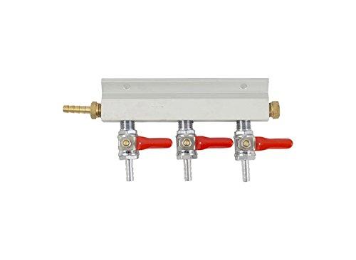 (Gas Manifold - 3 Way Aluminum (Keg King) 1/4