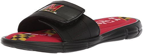 Under Armour Mens Ignite V Collegiate Slide Black/Black/Red
