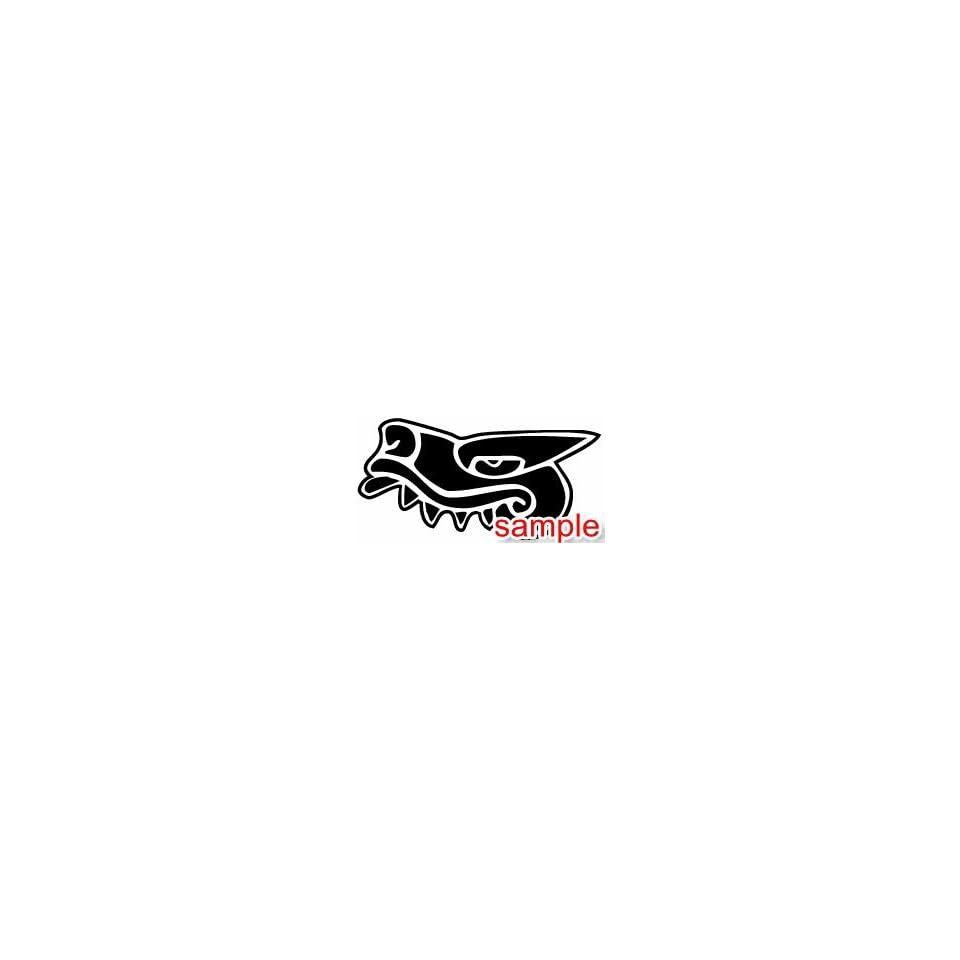 ANIMALS AZTEC ALLIGATOR 10 WHITE VINYL DECAL STICKER