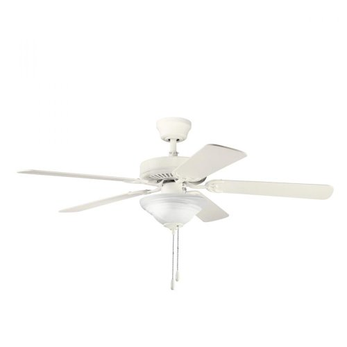 Cream Manor (Kichler  339220SNW Sterling Manor Select ES 52-Inch Ceiling Fan, Satin Natural White Finish with Satin Natural White Blades and Light Kit)