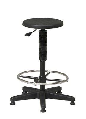 black urethane stool