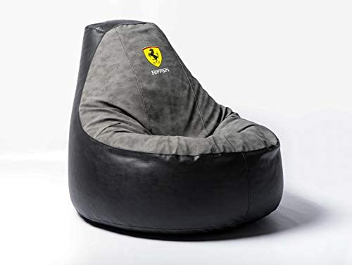 Ferrari Supercar Comfortable Kids Adult Game Outdoor Indoor Lounge Chair Beanbag Cover Without Beans Grey Alcantara