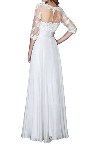Formalkleider Spitze Braut Lang Brautmutterkleider Abendkleider La Chiffon Langarm Fuer Hochzeits Festlichkleider Rot mia wHEEv