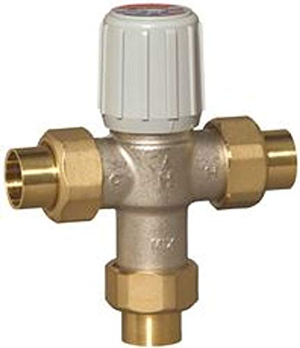 Honeywell Sweat Union Mixing Valves, Lead Free, 3/4 In., 70 Deg To 120 Deg Operating Temperature