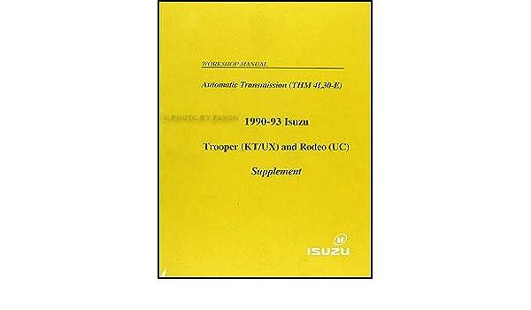 1993 isuzu trooper repair manua
