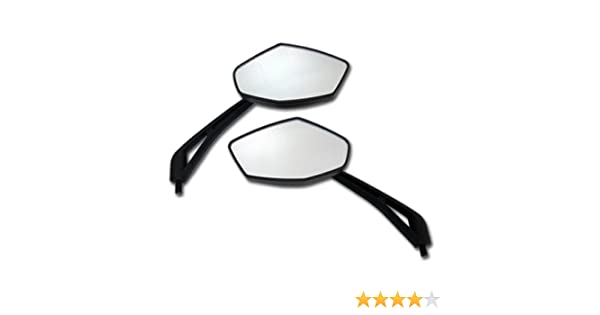 Black Universal Round Motorcycle Mirror 10mm For BMW R100//7 R1100GS R1100R