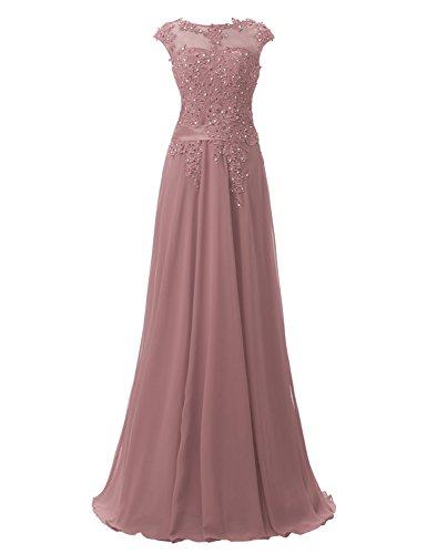Clearbridal Longue Robe De Soirée Pour Les Femmes Fomral Robes De Bal 181-poussière Rose