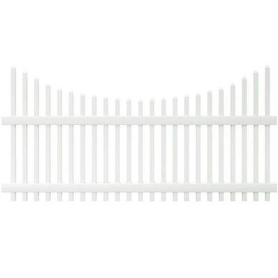 Chatham 4 ft. H x 8 ft. W Scalloped Top Spaced Picket Vinyl Fence Panel - Unassembled by Veranda