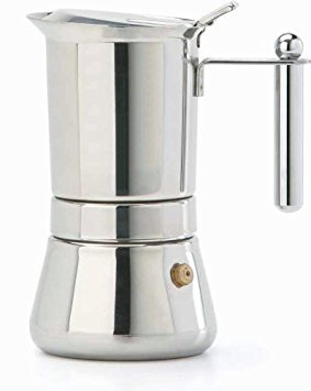 Vespress Stainless Steel Espresso Maker 4 Cup Size