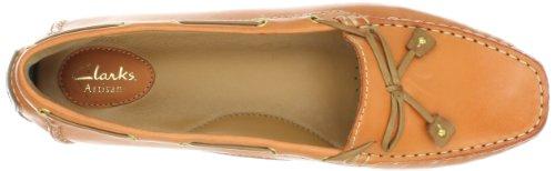 Clarks Womens Dunbar Coureur Bateau Chaussure Orange
