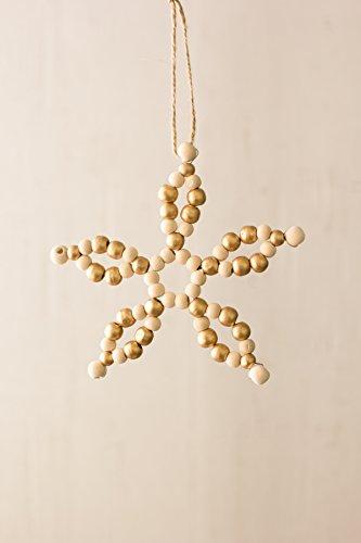 Kalalou Wooden Beaded Star Ornament - 6.5