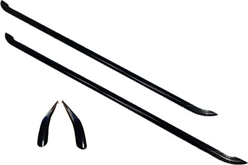 Compatible with Transporter T5 and T6 TVA Styling Black Side Bars Premium Black Powder Coated Steel OEM Grade Sportline Style Side Bars SWB