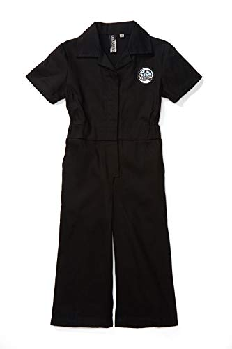 Born to Love Knuckleheads - Infant and Baby Boy Grease Monkey Coveralls (5T, Girl Black) -