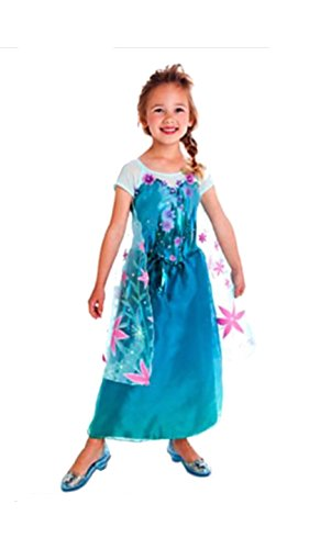 [Frozen Fever Elsa Inspired Dress (6-7 Years)] (Halloween Costumes Elsa)