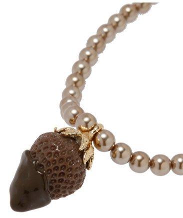 Q-pot. Strawberry Chocolate Fondue Necklace Brown Fashion Jewelry New (Small Copper Fondue Pot compare prices)