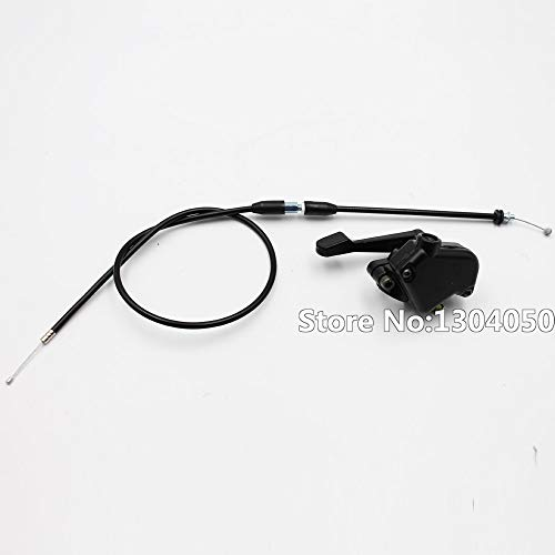 Wincom Dishman Frames & Fittings New Throttle Lever Thumb Controller Assembly + Cable ATV Quad Pit Bike Mini Moto 50Cc 70Cc 90Cc 110Cc 125Cc 150Cc Chinese (New Atv Mini Quad)