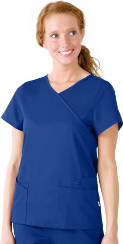 URBANE Ultimate Women's Sophie Crossover Solid Scrub Top ...