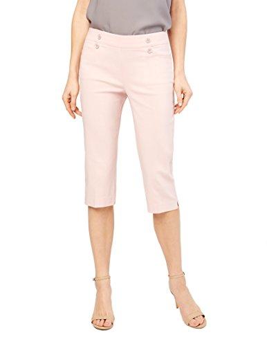 89th&Madison Skinny Sailor Capris, X-Large, Rose (Rose Knit Pants)