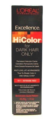 L'Oreal Excellence HiColor Intense Red 1.74 oz. Tube (3-Pack) with Free Nail File Loreal Red Shampoo