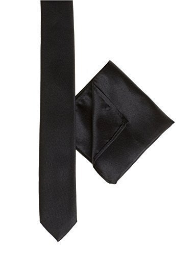 Paisley of London, Boys skinny black tie, Boys black pocket square, Pocket handkerchief