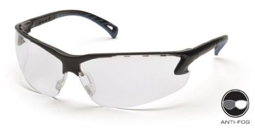 Safety Glasses,Blk/Clear Lens (Pack of 12)
