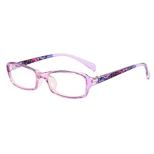 Glasses 136 (Fantia Kids Eyeglasses Stripe Children Eyewear Student Glasses Age 3-12 (4#))