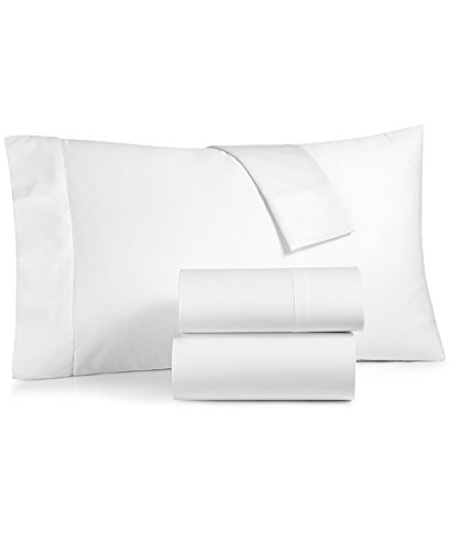 Charter Club Damask Solid Queen 4 Pieces Sheet Set, 550 Thread Count 100% Supima Cotton White (Queen Sheet Set Charter Club)