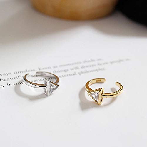 Silver Triangle cz Ring 5 Days delivery (Silver 16mm ()