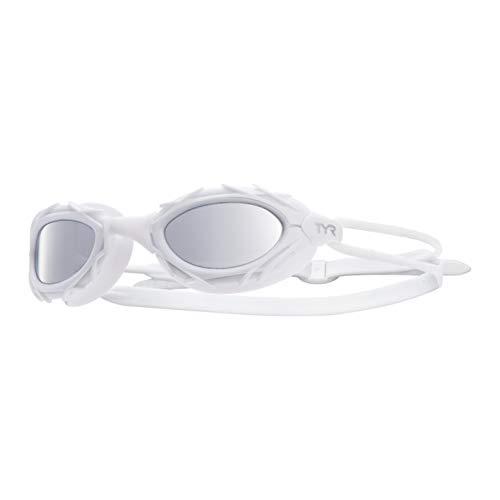 TYR Nest Pro Nano Metallized Goggle, Metallic White