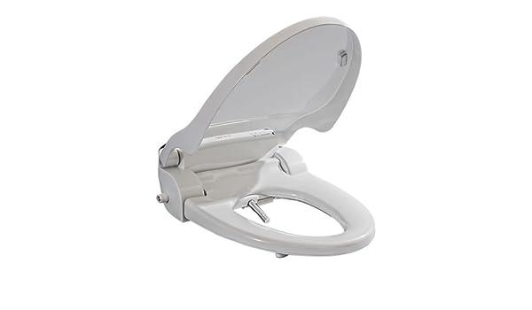Bidet Toilet Seat With Heated Seat LED NightLight Round Toilet Seat Soft Close