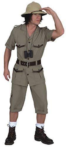 Mens Safari Jungle Explorer TV Film World Book Day Week Job Occupation Fancy Dress Costume Outfit (Medium (EU 46/48))]()