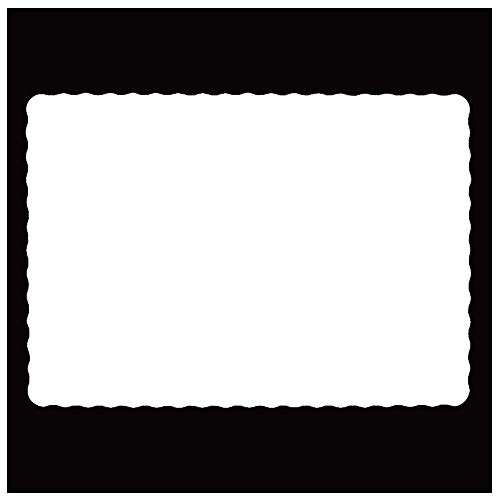 Rectangle Disposable Paper Placemat (1000 Pack) - 10 x 14 Inches White Eco-friendly Heavy weight 60 pound paper Place Mat Wavy Scalloped Edge