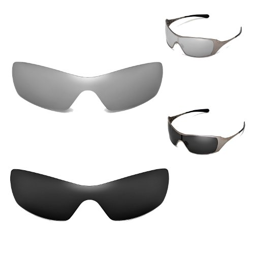 New Walleva Polarized Titanium+Black Replacement Lenses For Oakley Dart - Dart Oakley Lenses