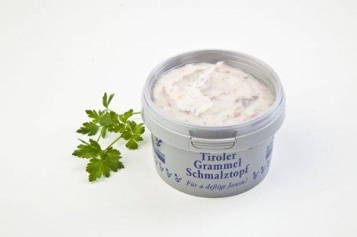 Tiroler Bauernstandl - Schmalz, Brotaufstrich - Tiroler Grammelschmalzbecher 200 g