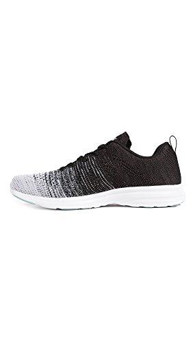 Apl: Laboratori Di Propulsione Atletica Mens Techloom Pro Running Sneakers Bianco / Grigio Melange / Nero