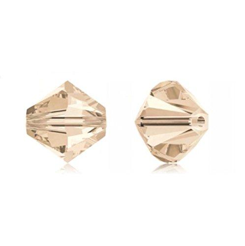 25pcs 8mm Swarovski Crystals 5328 Xilion Bicone Crystal Beads for Jewelry Craft Making (Silk) - Pendant Lighting Silk