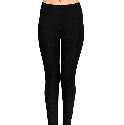 bc5cef915828d Women's Print Stretch Soft Leggings (Solid Black). by girly girl leggings