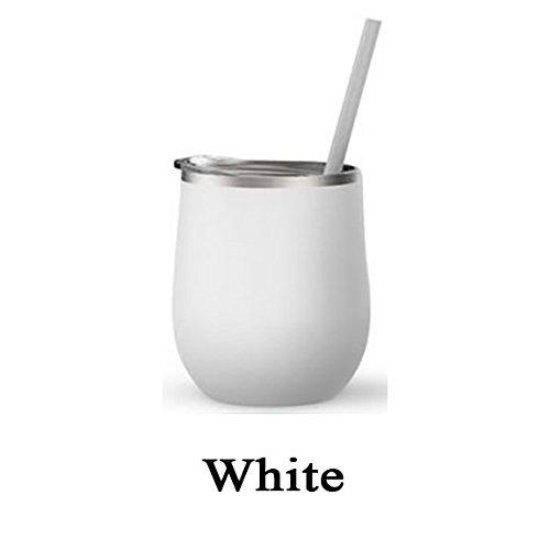 White 12 Ounce Tumbler - 7