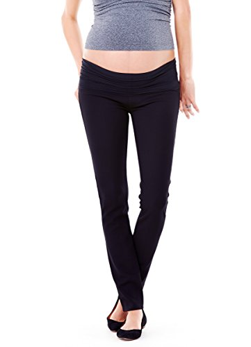 Ingrid & Isabel Women's Maternity Ponte Skinny Pants, Jet Black, 8
