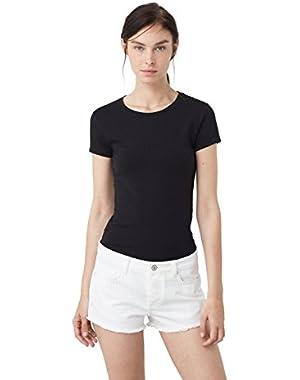 Mango Women's Essential Cotton T-Shirt