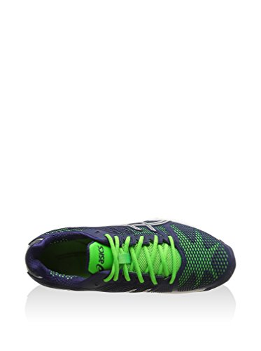 Asics Gel-Solution Speed 2 - Scarpe sportive Uomo - Navy/Silver/Neon/Green (5093)
