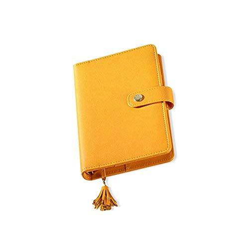 LuLyL - Carpeta de Piel con borlas y Anillas para Cuadernos de Notas, Diario con Hebilla, para Guardar Tarjetas y...