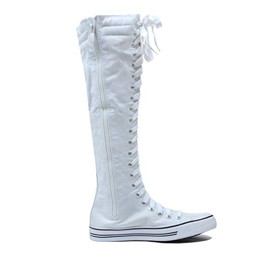 White Boots Knee Up Lace Sneaker West High Canvas Blvd wb Womens xa8UqFwn7A