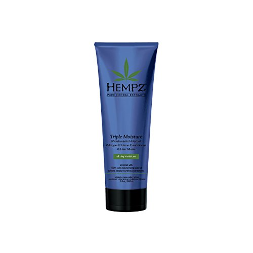 Hempz Triple Moisture-Rich Herbal Whipped Creme Conditioner and Hair Mask for Women and Men, 9 oz. – Premium, Natural…