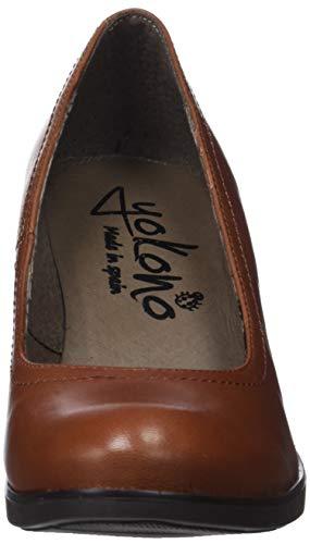 Eu Punta Mujer De Tacón Para Cerrada Yokono Con marrón Virtu 40 Zapatos 002 4TWw7X
