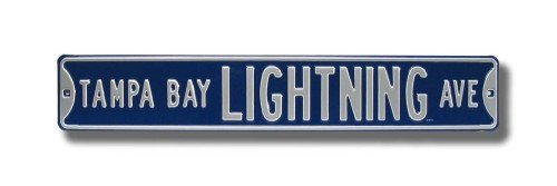 - Authentic Street Signs 28123 NHL Tampa Bay Lighting Ave, Heavy Duty, Metal Street Sign Wall Decor, 36