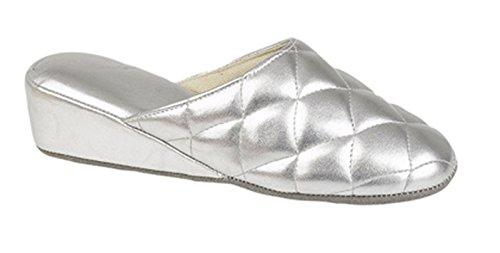 Pantofole Donna Dunlop Pu Silver Pu Donna Dunlop Pantofole Silver awqqtHX