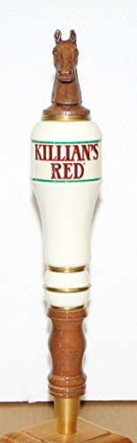 Killians Red Beer Tap Handle knob marker wood with resin horse head topper 12