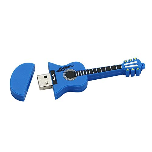 - 64GB Blue Guitar Model U Stick Pen Drive USB 2.0 Stick PenDrive Memory Flash Drive U Disk Flash Disk Thumb Drive U Disk
