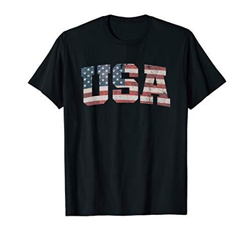 USA T Shirt US Flag Tee Patriodic 4th Of July America Tshirt